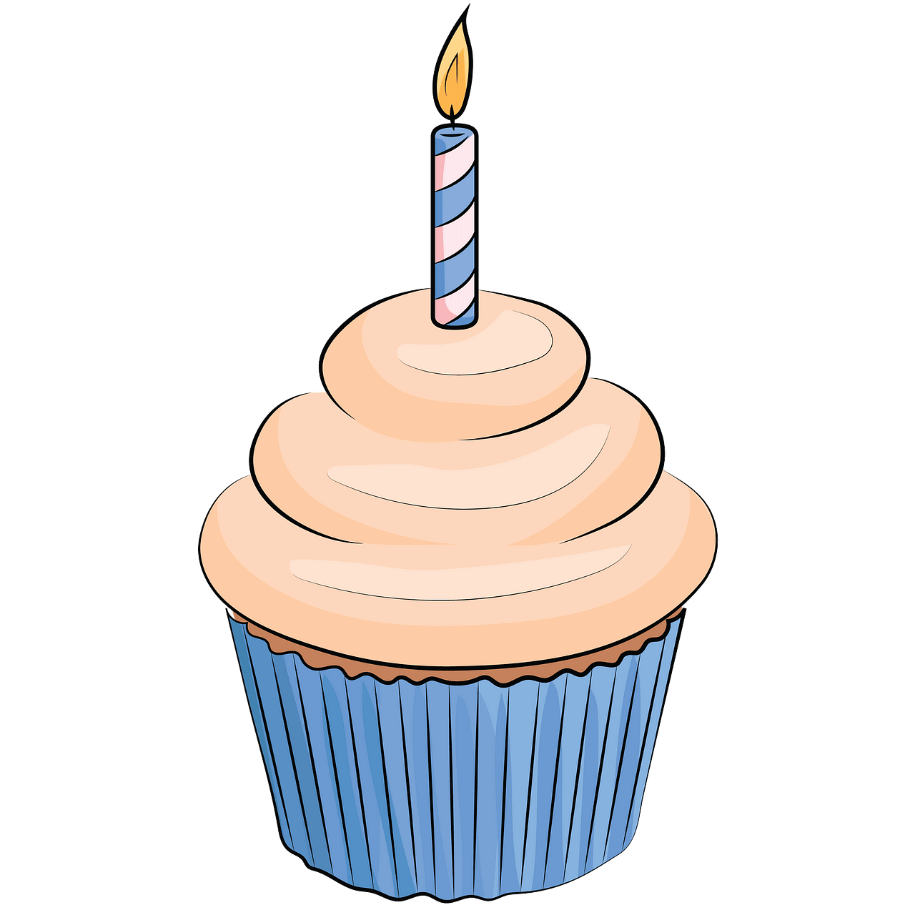 Birthday cupcake clipart. Free download..