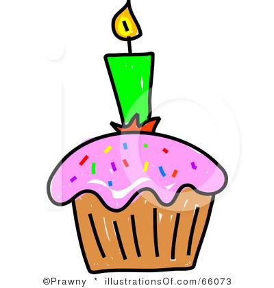 Birthday Cupcake Clip Art.
