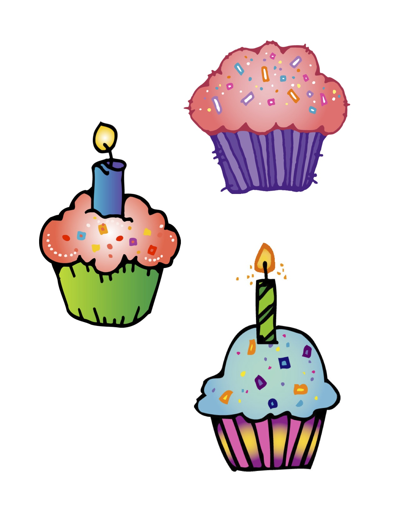 Happy Birthday Cupcake Clipart.