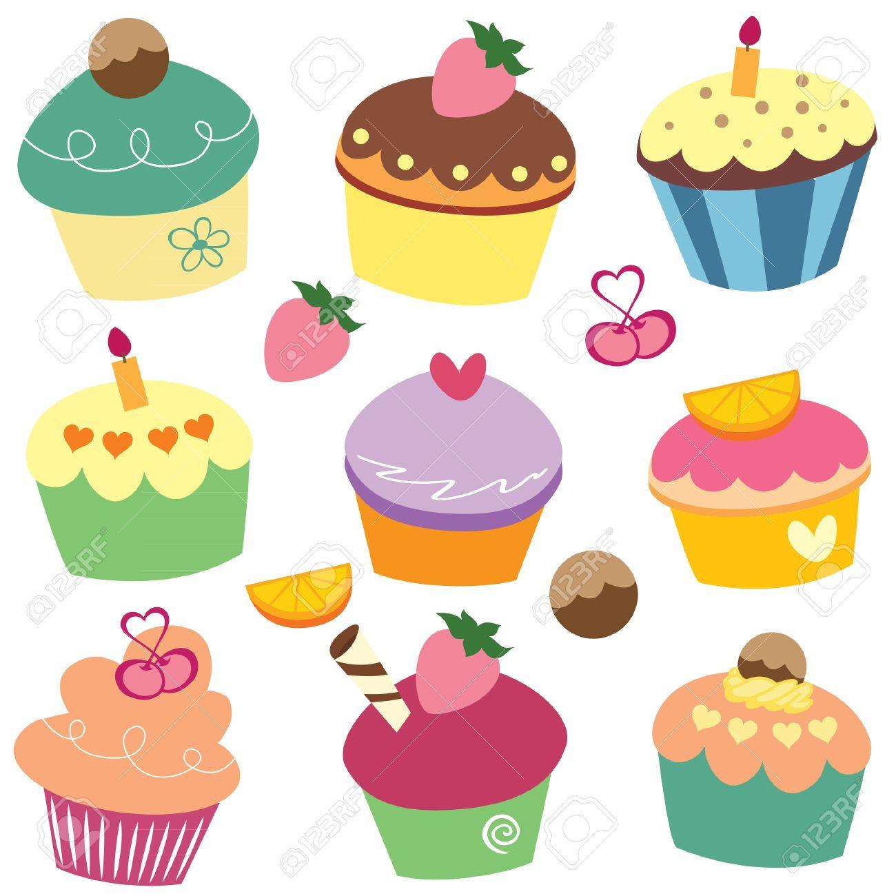 yummy cupcakes clip art.