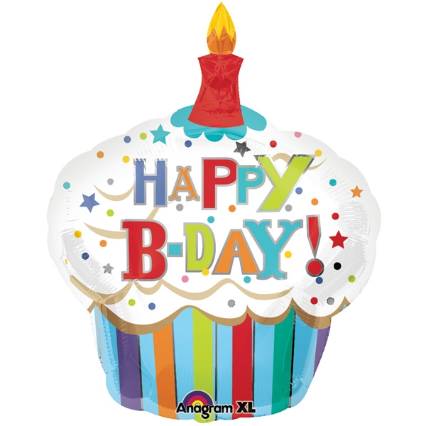 18+ Birthday Cupcake Clip Art.