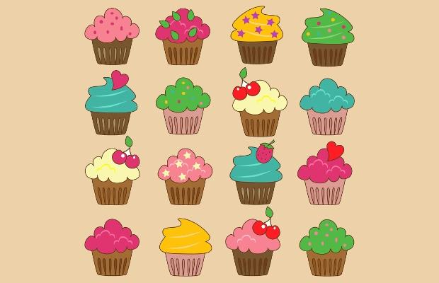 18+ Cupcake Cliparts.