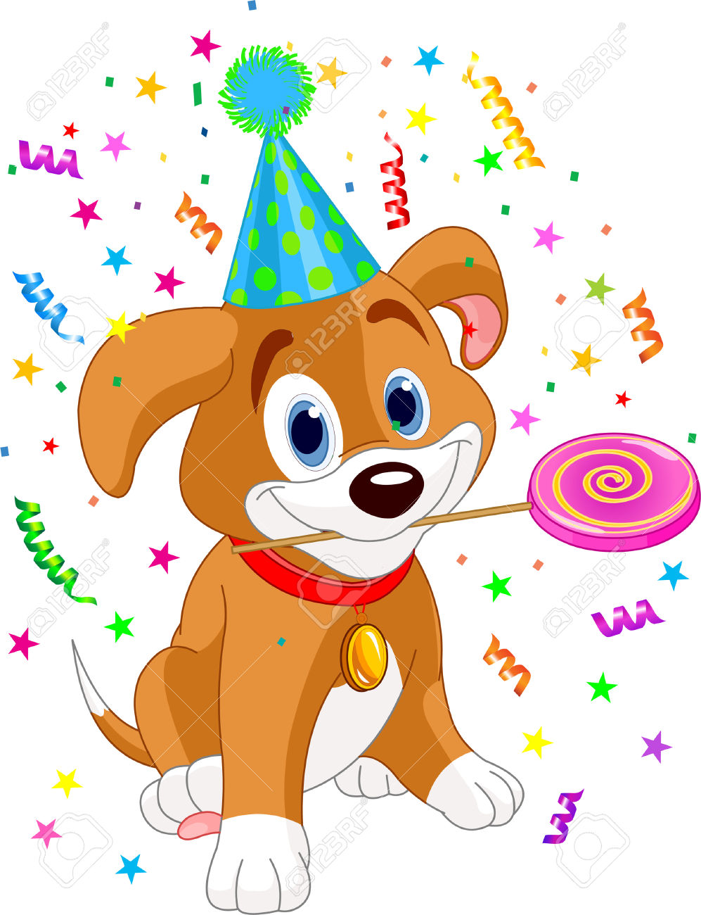 Birthday Clipart With Dogs.