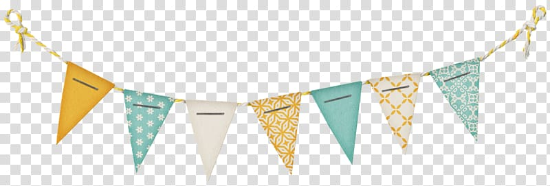 White and green pennant flags, Paper Banner Flag Bunting.
