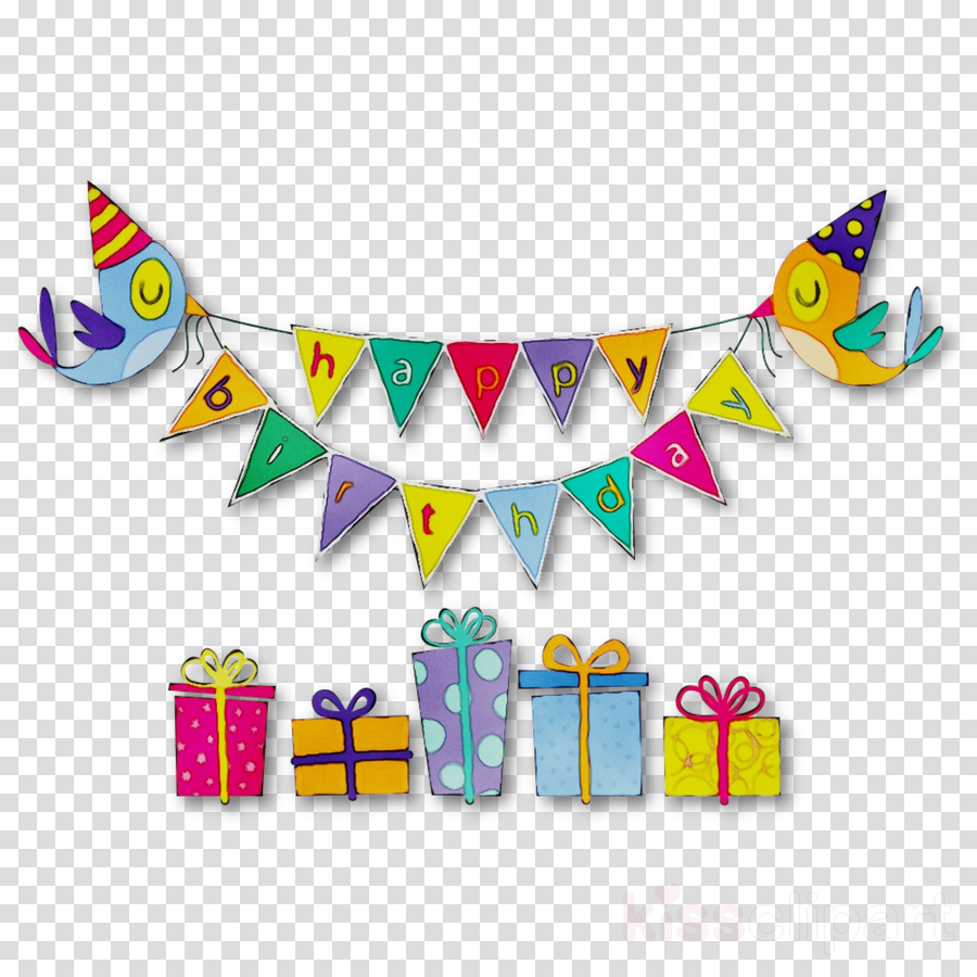 Happy Birthday Bannertransparent png image & clipart free download.