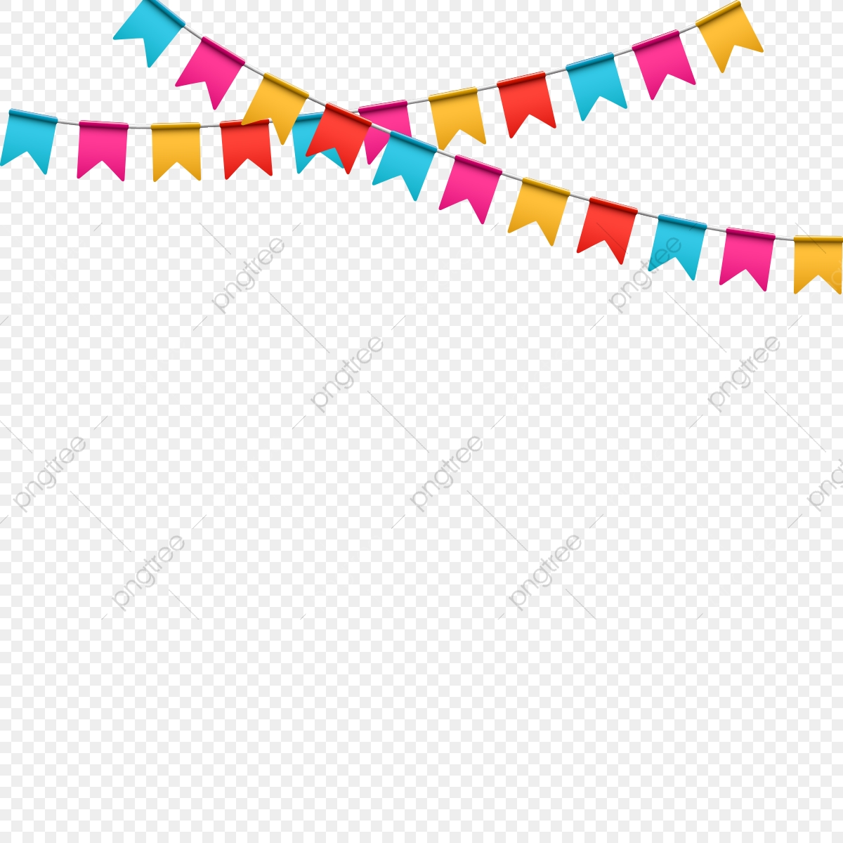 Colorful Flag For Birthday, Happy Birthday, Background, Birthday PNG.