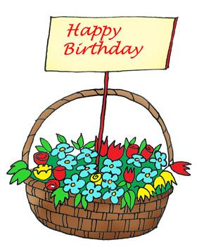 Birthday Flowers Clipart.