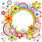 Happy Birthday Flowers Clipart.