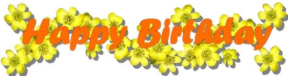 Happy Birthday Flower Clip Art.