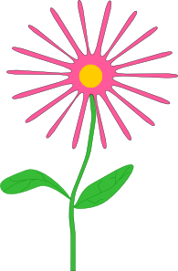 Happy Birthday Flowers Clipart.