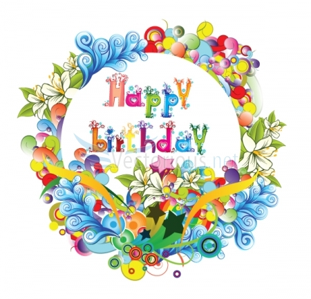 Free Happy Birthday Flowers Clip Art.