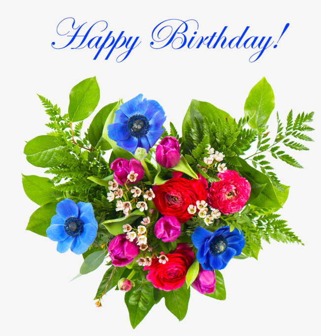 Free clipart happy birthday flowers 3 » Clipart Station.