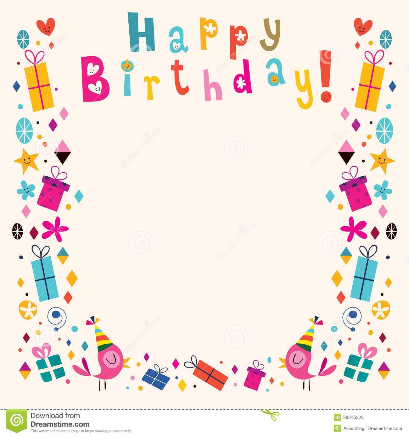 Happy birthday frame clipart 3 » Clipart Portal.