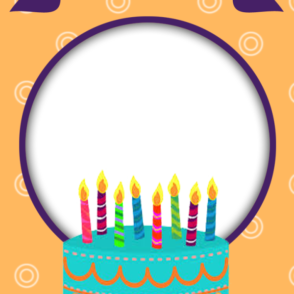 Happy Birthday Frame clipart.