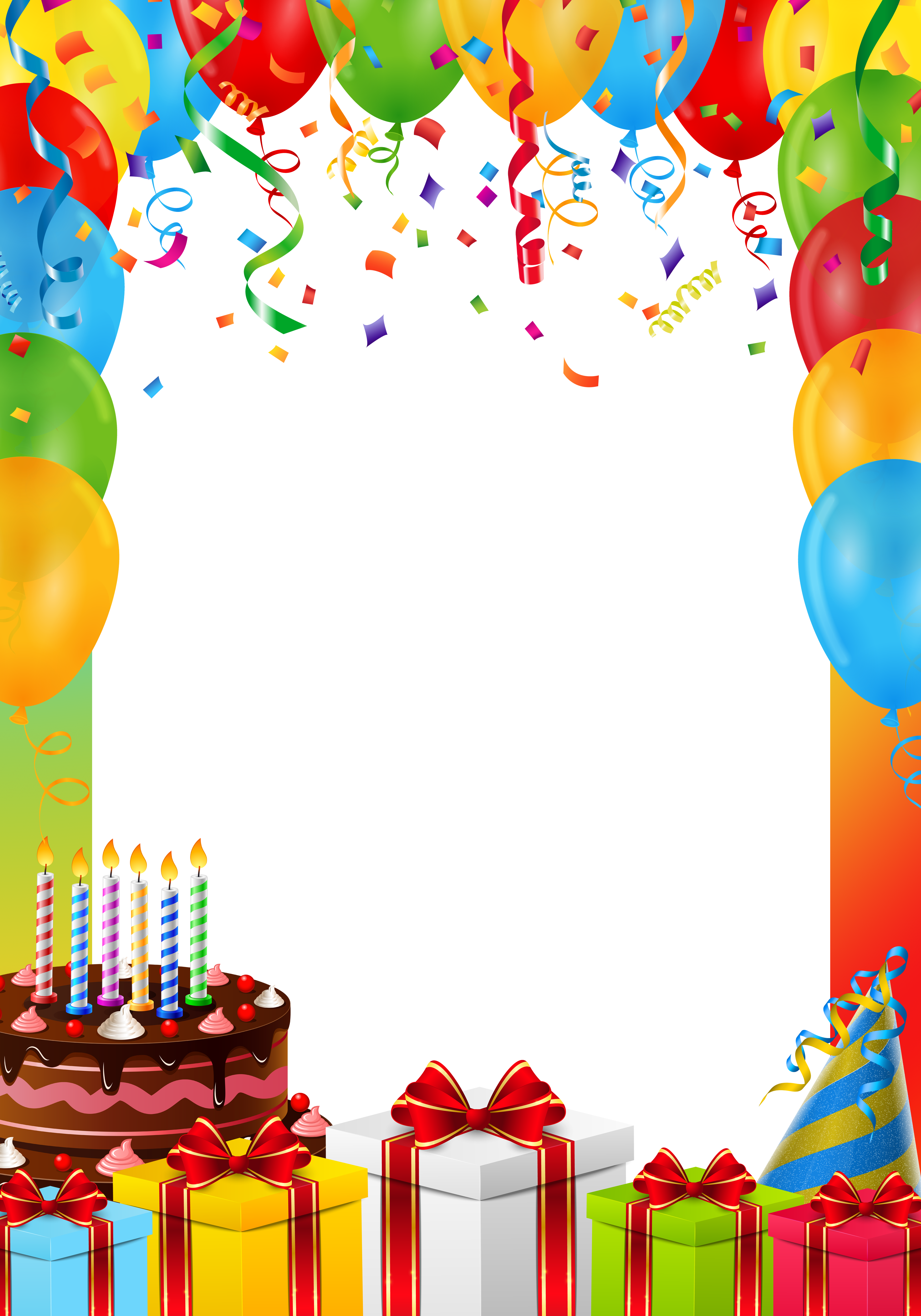 Birthday Frame PNG Transparent Image.