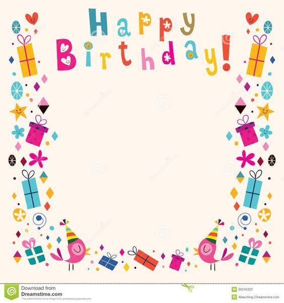 Happy Birthday Frame Clipart #1.