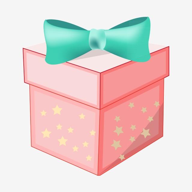 Pink Birthday Gift Box, Birthday Present, Green Bow, Celebration PNG.