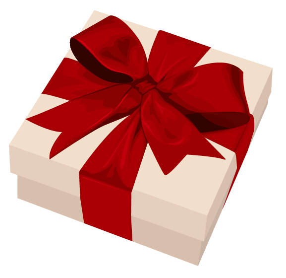 Gift box PNG image free download.