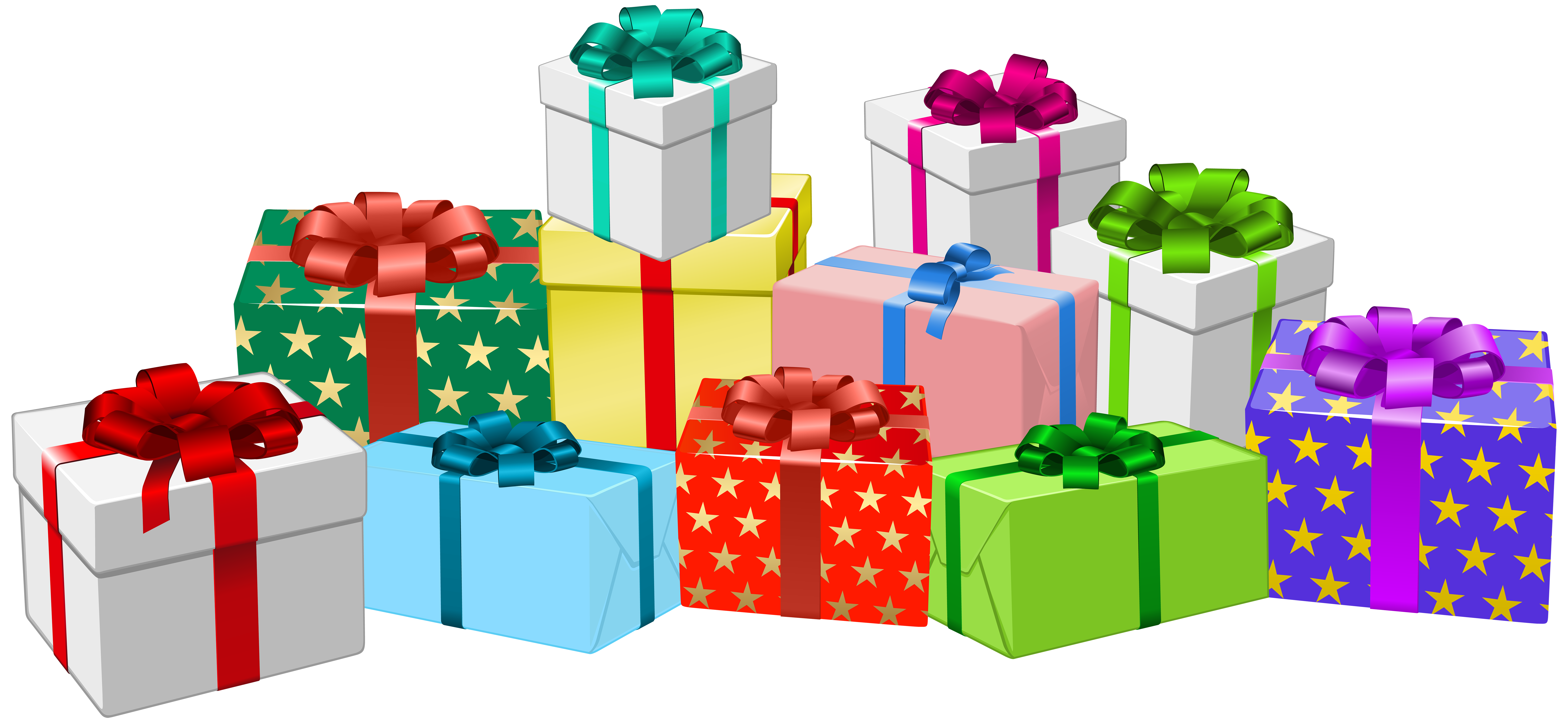Gift Boxes PNG Clip Art Image.
