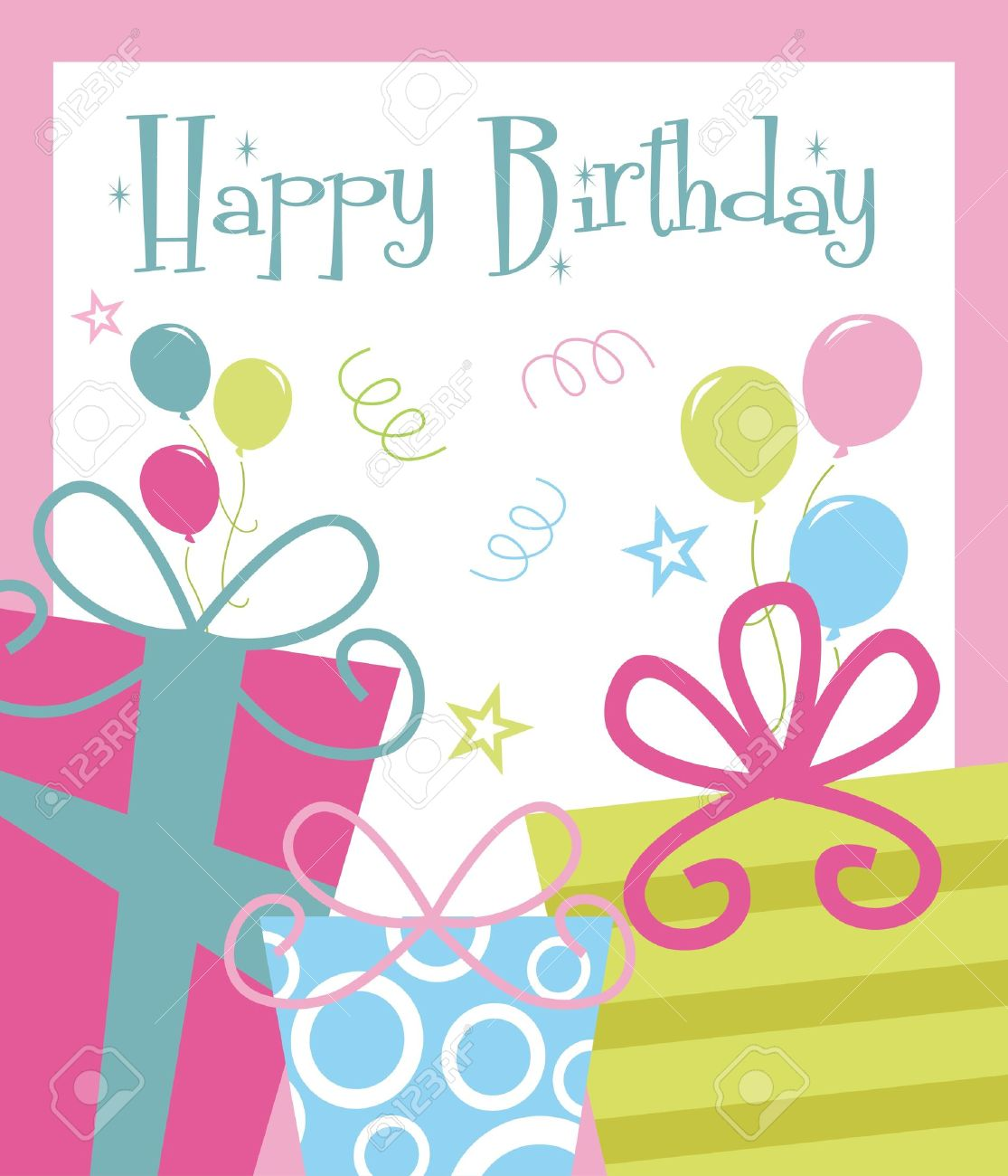 Birthday Greeting Cards Clipart.