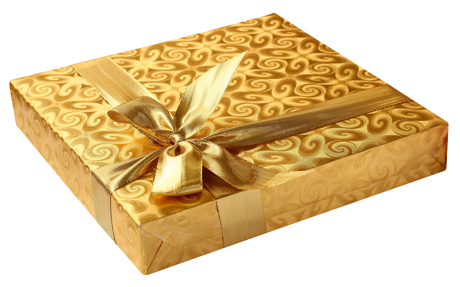 Golden Birthday Gift PNG Image.