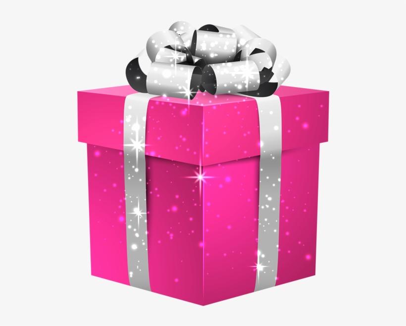 Present Gift Pink Neon Christmas Birthday.