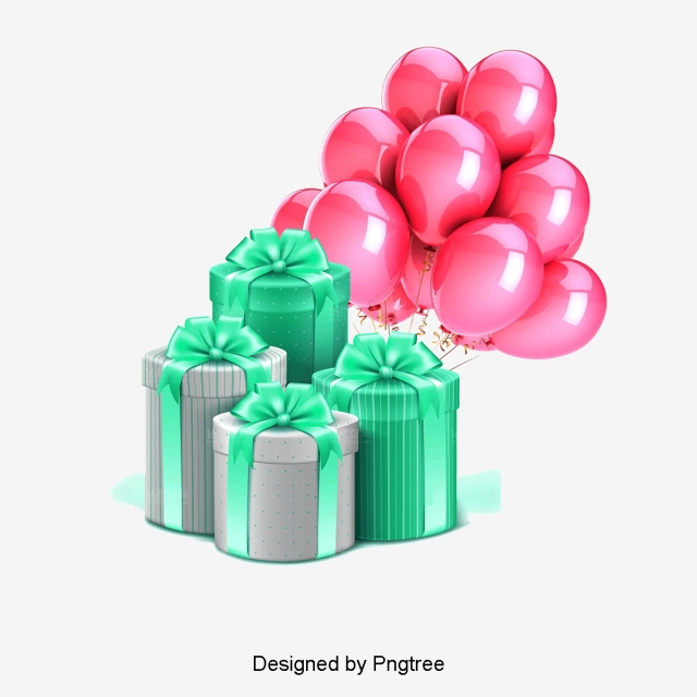Gift, Balloon, New Material PNG Transparent Clipart Image and PSD.
