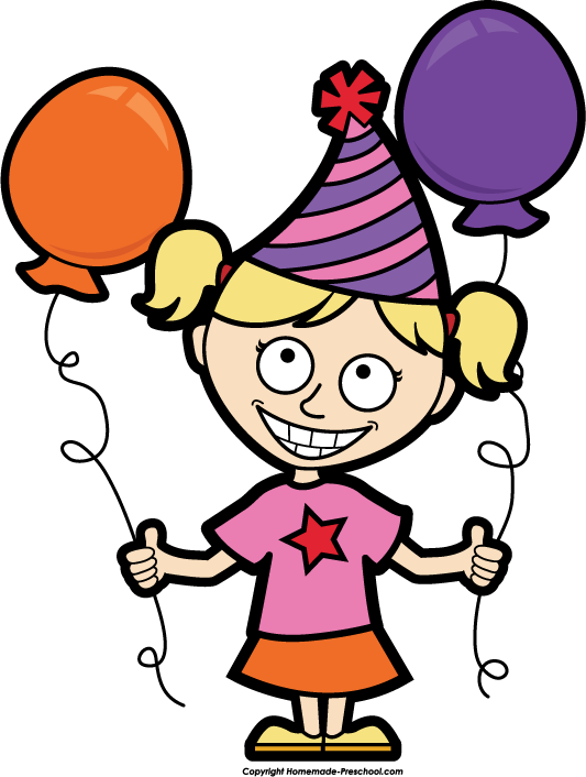 Clipart Birthday Girl.