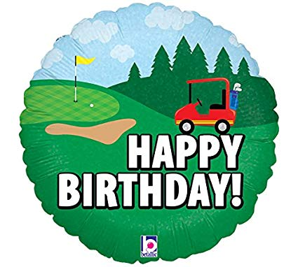 Burton & Burton Happy Birthday Golf Foil/Mylar Balloon.