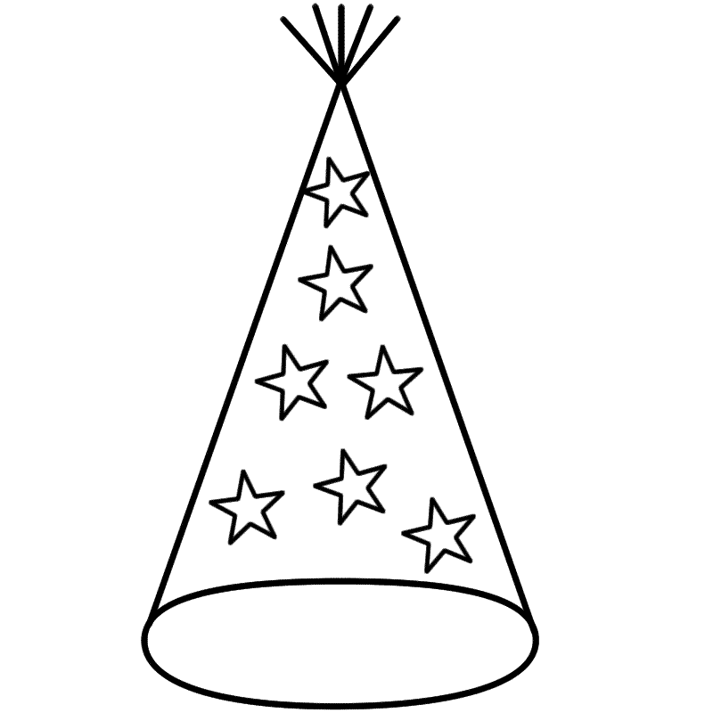 Free Party Hat Black And White, Download Free Clip Art, Free.