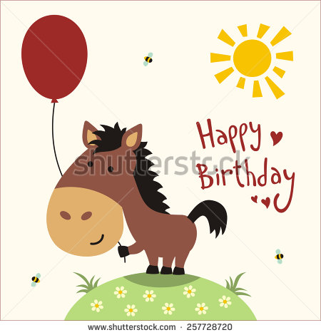 Birthday Horse Stock Images, Royalty.