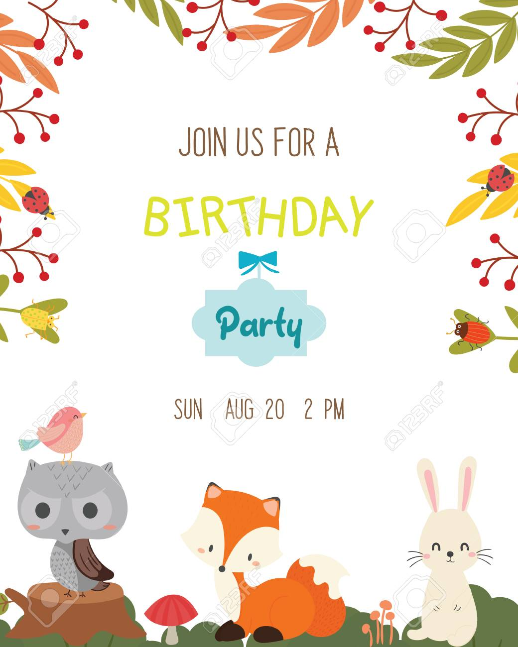 birthday invitation card clipart #6