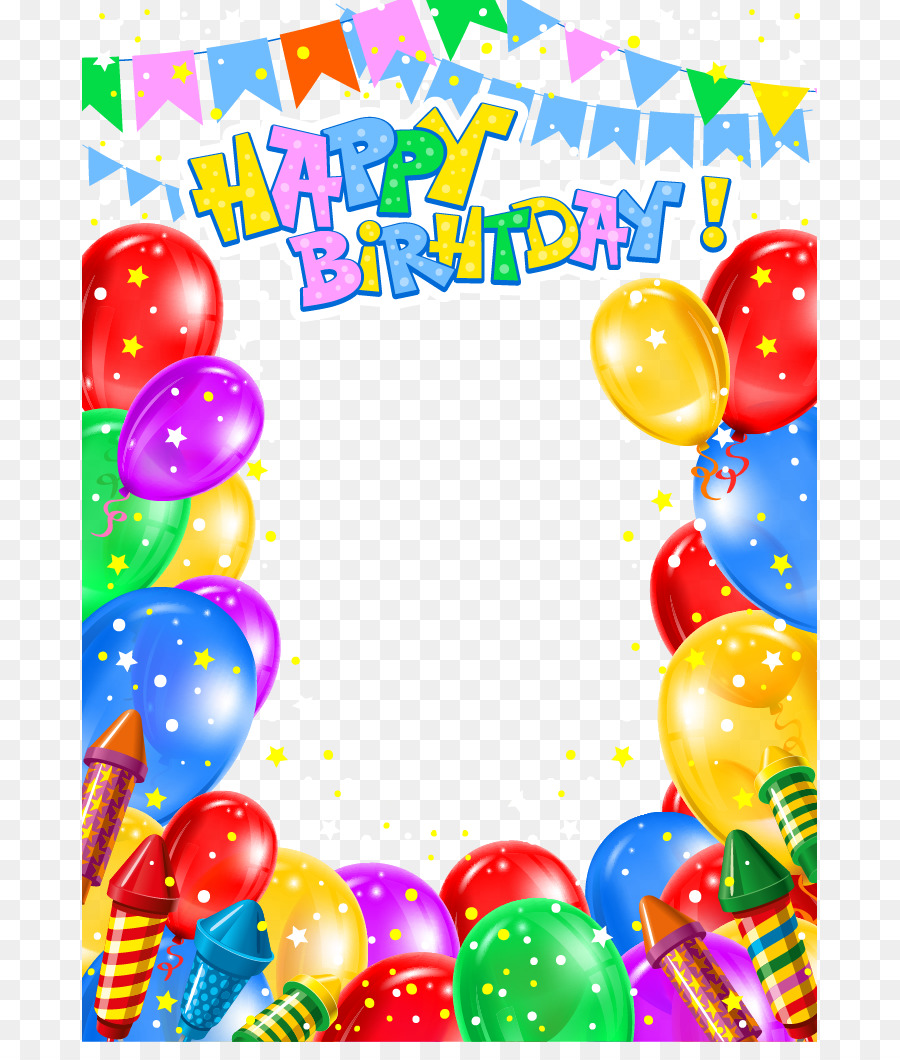 Birthday Invitation Card png download.