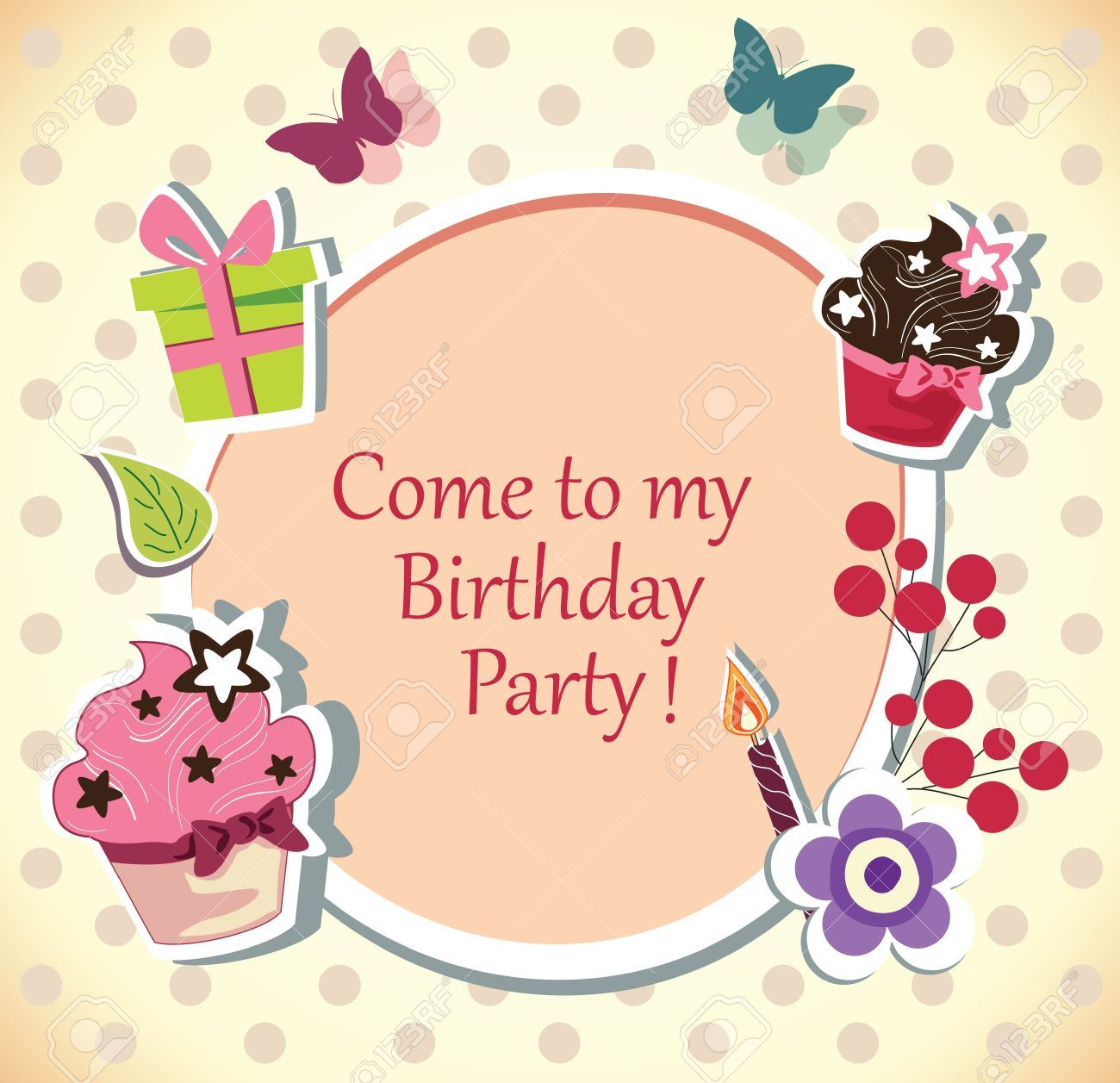 Free birthday party invitation clipart 3 » Clipart Portal.