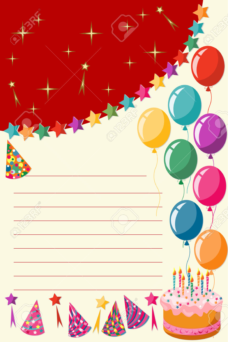 Birthday Invitation Card Royalty Free Cliparts, Vectors, And Stock.