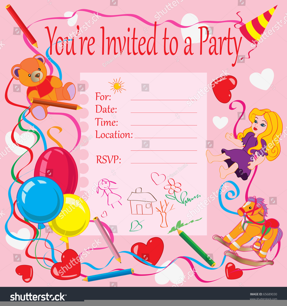 Birthday Invitation Card Clipart.
