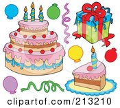 Royalty Free Stock Illustrations of Birthday Gifts by visekart Page 1.