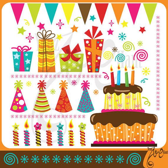 Birthday ClipArt BIRTHDAY PARTY clip art.