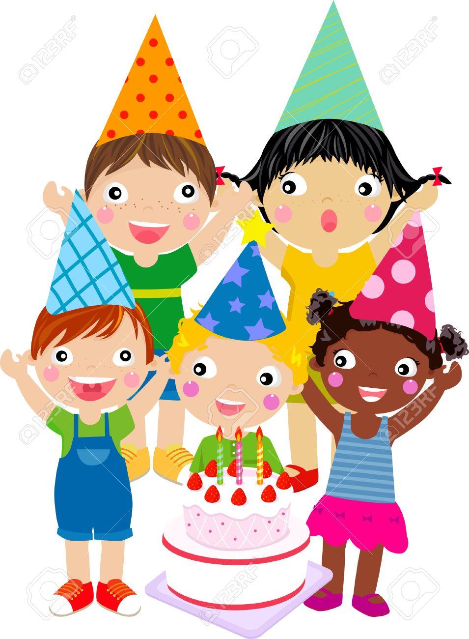 Kids Birthday Cake Clipart.
