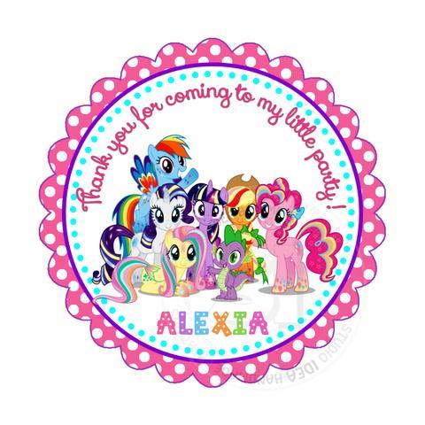 Custom My Little Pony Birthday Thank you Printable 2.5\