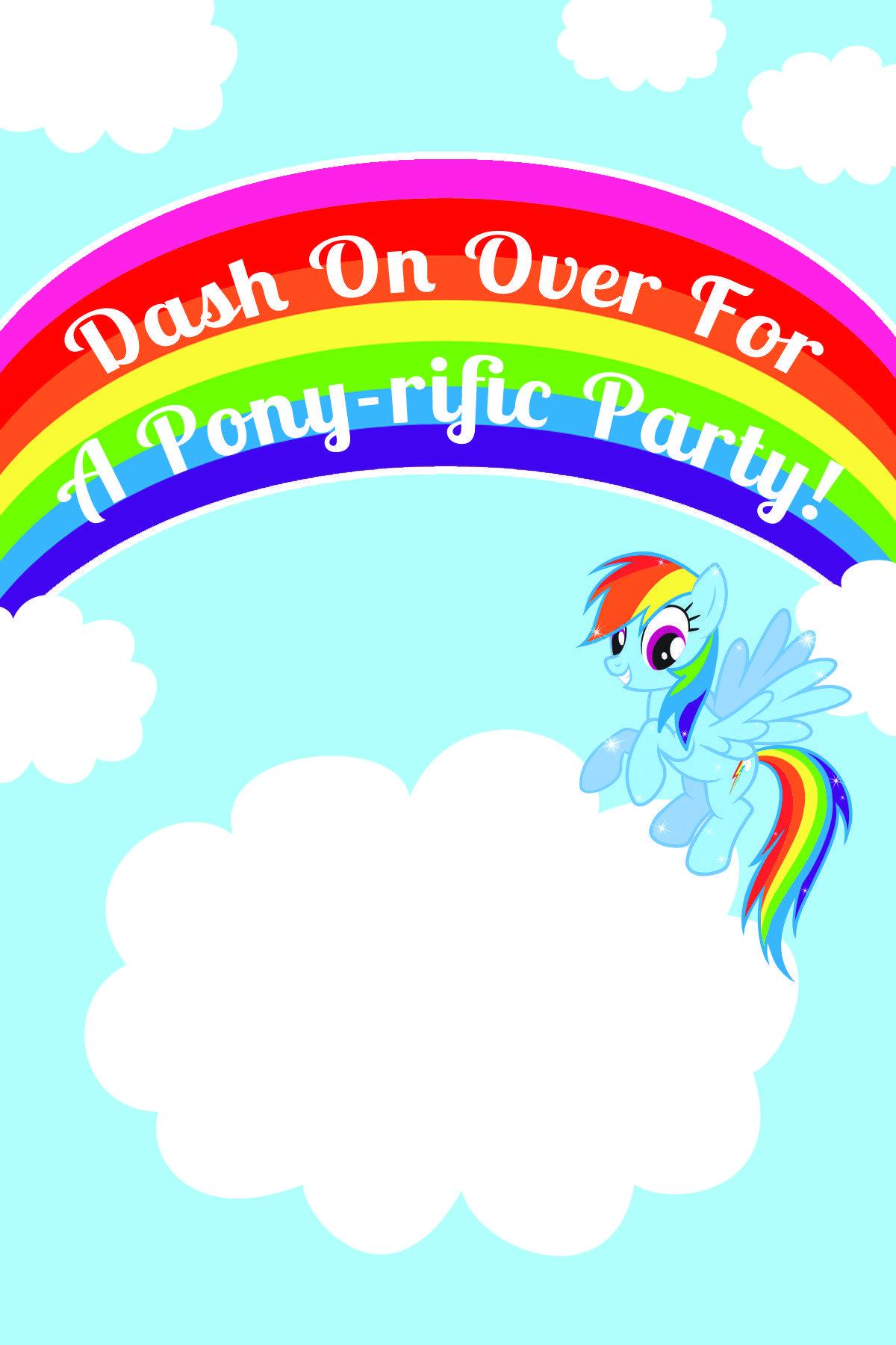 invitation #printables #printable #birthday #rainbow #little.