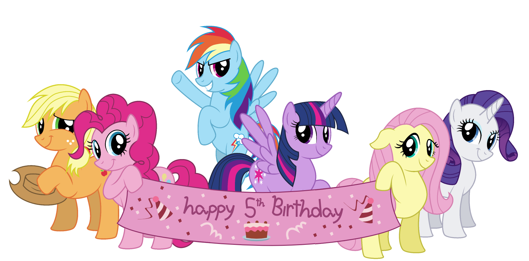My Little Pony Pinkie Pie Birthday Greeting & Note Cards.