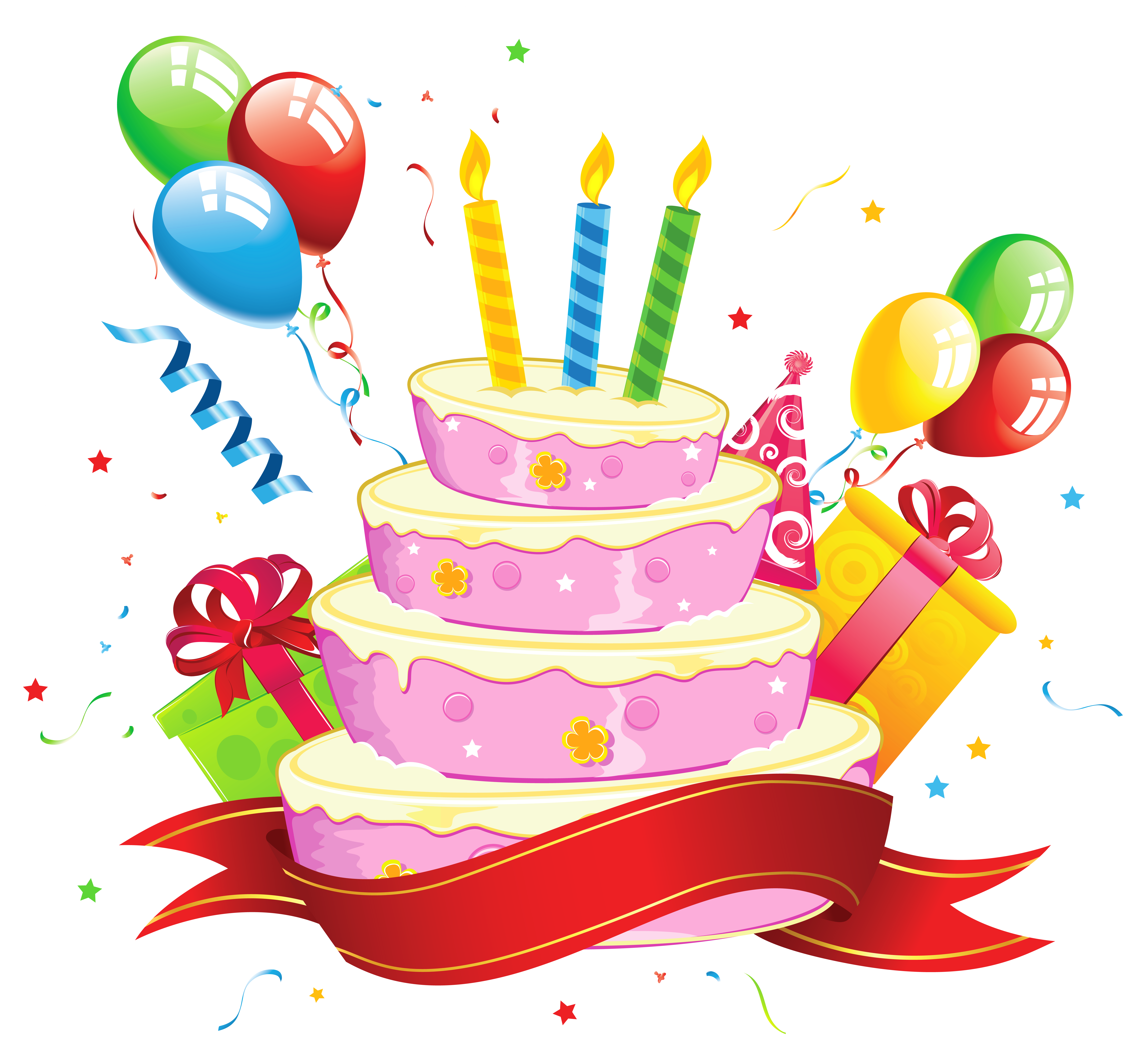 Birthday Cake Clipart Transparent.