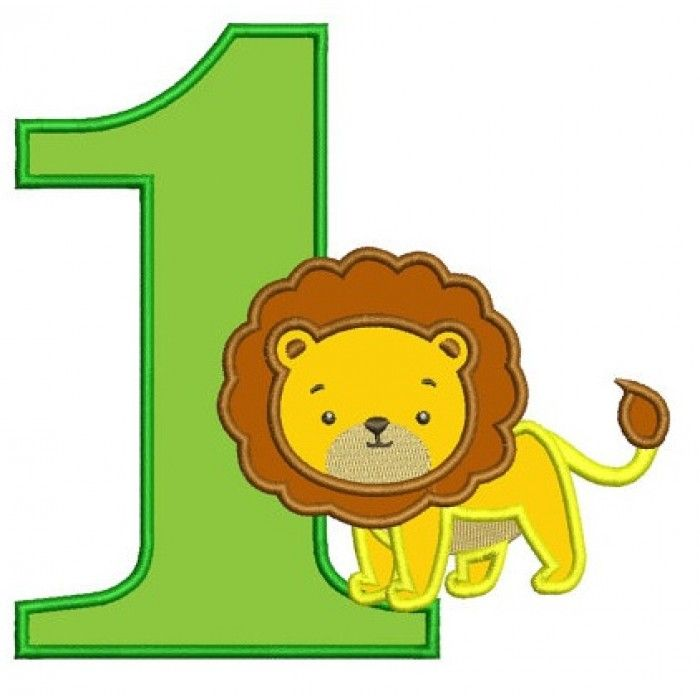 birthday number 1 clipart #10