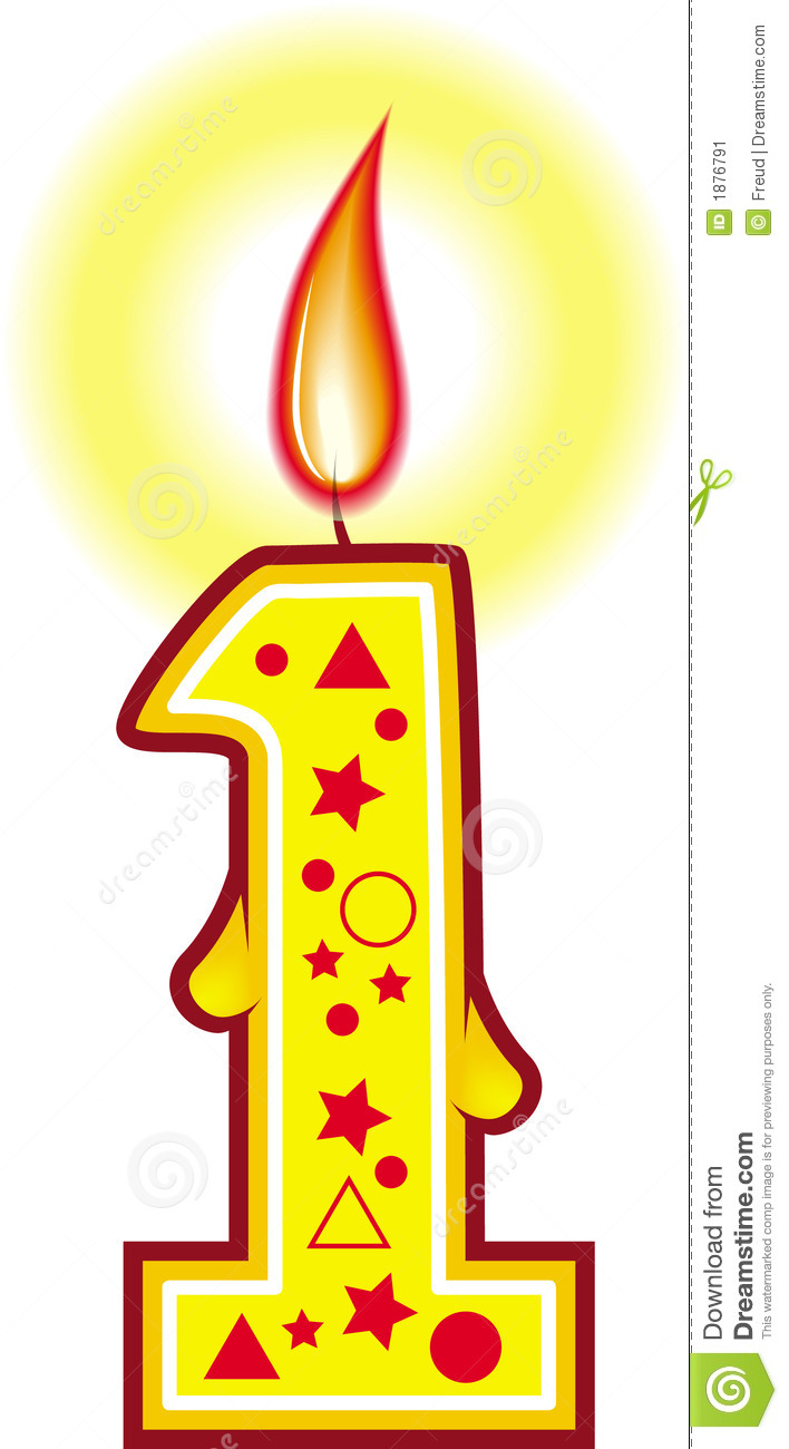 Candle Number 19th Clipart.