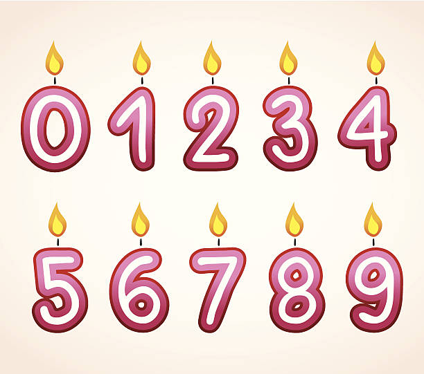 Birthday Candles Clip Art, Vector Images & Illustrations.