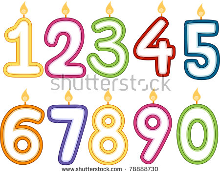 Vector Confetti Style Birthday Candles On Stock Vector 13305493.