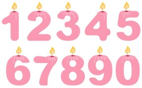 Birthday Number Candles Clipart.