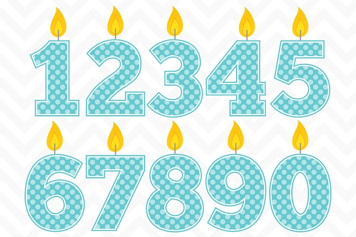 Birthday candle clipart Photos, Graphics, Fonts, Themes, Templates.