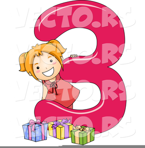 Free Birthday Numbers Clipart.